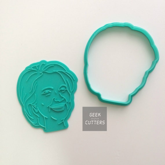 Hillary Clinton Cookie Cutter  - *Dishwasher safe option* - 3D Printed