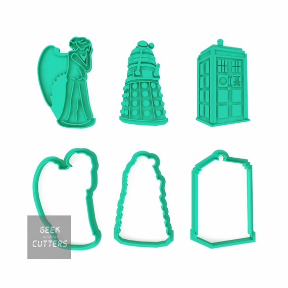Doctor Who Collection Set Cookie Cutter - *Dishwasher safe option* - 3D Printed
