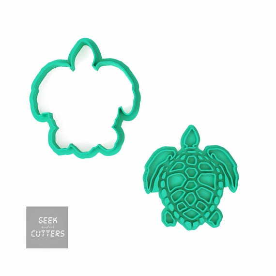 Sea Turtle Cookie Cutter  - *Dishwasher safe option* - 3D Printed
