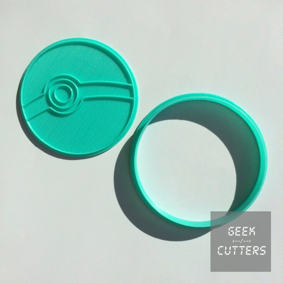 Pokemon - Pokeball Cookie Cutter  - *Dishwasher safe option* - 3D Printed
