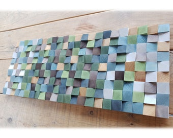 Wooden wall decor in natural tones,  abstract wood wall sculpture for modern decor