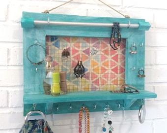 Jewelry Wall Organizer, Jewlery Organizer, Wall Organizer, Jewelry Display, Jewlery Storage, Jewelry Holder, Boho, valentine gift, for her