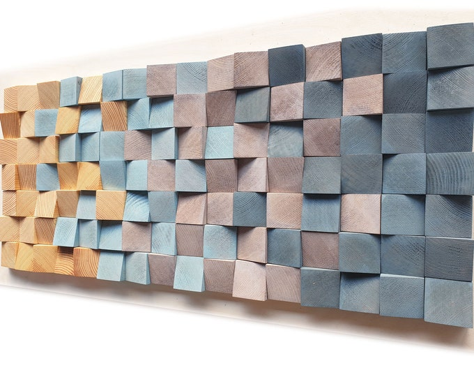 L CUBES Wooden wall art