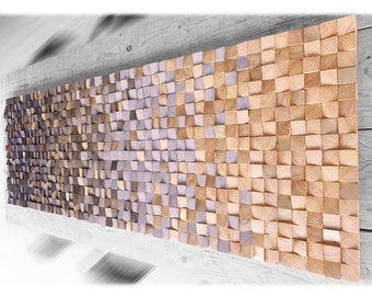 Ready to ship, Wood wall art for modern rustic decor, wall sculpture wood in gray and toasted tones, wooden wall decor for living room