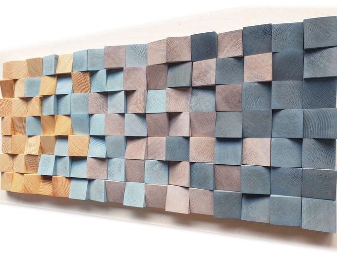 L CUBES Wooden wall art