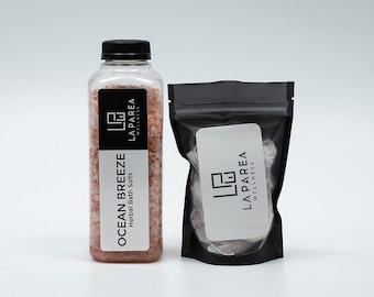 Ocean Breeze Herbal Bath Salt Soak with Calendula Petals, Natural Body Exfoliate, Bath Bomb Gift Set