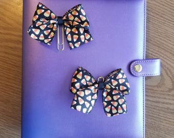 Candy Corn Bow Planner Clip/ Charm