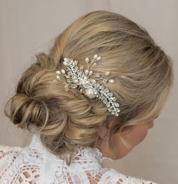 Art Deco Hair Comb.Art Deco Rhinestone Hair Piece.Platinum /& Rhinestone Hair Comb.Art Deco Style Bridal Headpiece.Art Deco Wedding Hair Comb