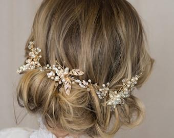 Fall flower Hair comb, Burgundy Bridal hair comb, Wedding hair piece, Flower hair clip Wedding