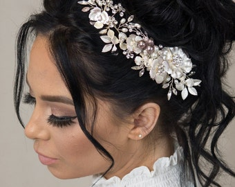 Wedding Flower Crown Hair Accessories Hair Clip Personalized Gift Tiara Wedding Veil Wedding Gift Hair Vine Crystal Crown Boho Wedding Dress