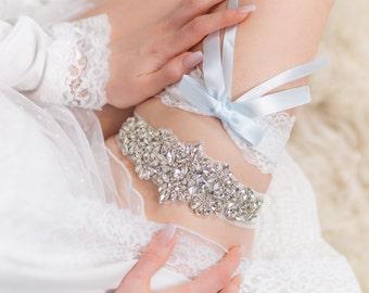 Non slip! Something blue wedding garter set bridal garter flower garter set lace Wedding garter set Keepsake Garter Toss Garter