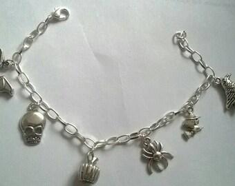 Goth charm bracelet