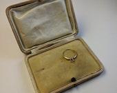 Antique Edwardian Brooch Jewelry Presentation Box Push Button Closure