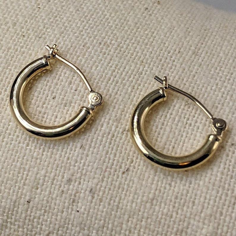 85414e53d 14k Gold Girl's/Baby Hoop Earrings | Etsy