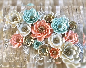 Boho Chic Style Paper Flowers