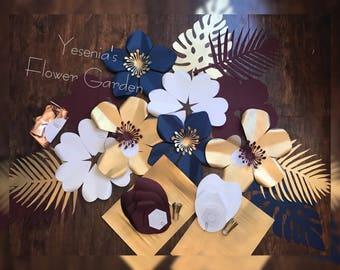 DIY Paper flower set with Love ballon