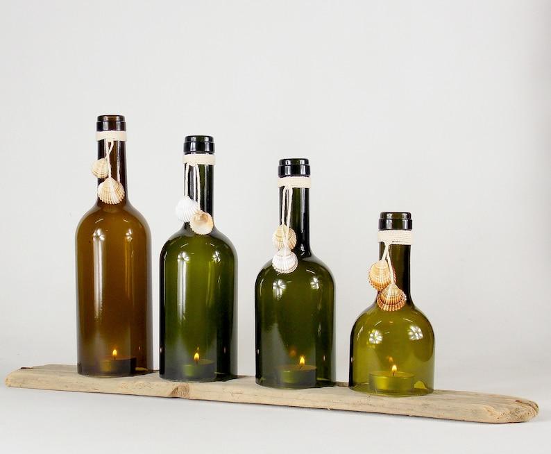 Grüne weinflaschen kerze halter kerze halter haus und etsy