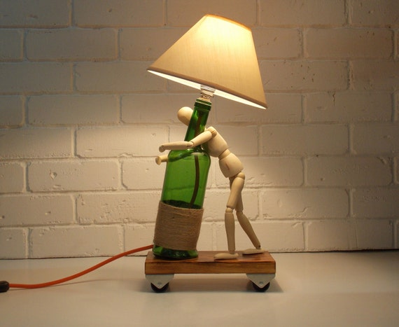 Lampe de bureau et industriel lampe lampe industrielle en bois