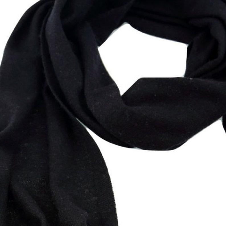 f81a277aa9839 Cashmere Scarf BLACK large cashmere Shawl luxury cashmere | Etsy