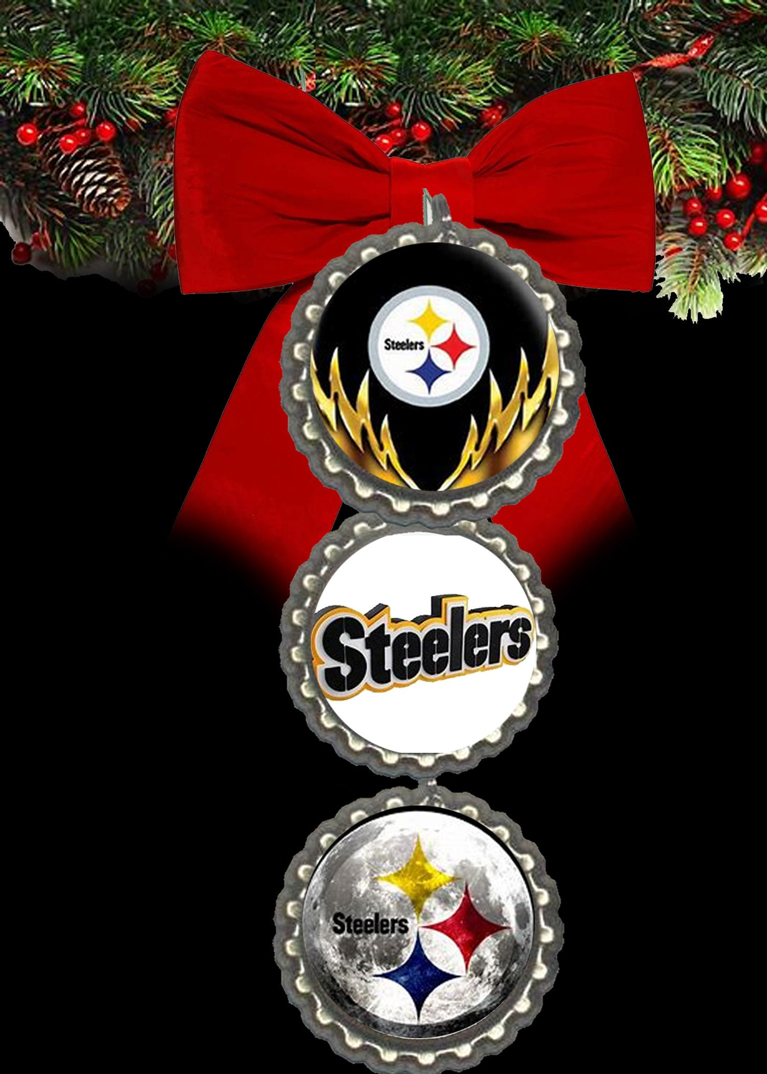 Pittsburgh Steelers christmas ornament ornaments christmas  b4f4e58b1