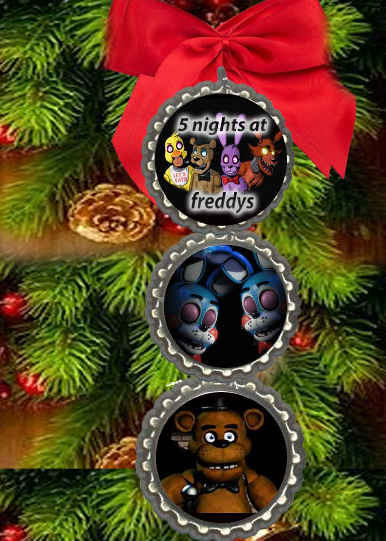 Fnaf Christmas.Five Nights At Freddys Freddy S Fnaf Christmas Ornament Christmas Tree Decorations Decor Fast Free Shipping Same Day Or Next Day
