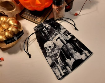 Spooky Black Cat Drawbag for All Sorts