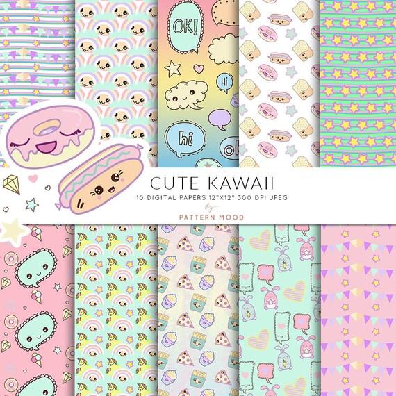 Cute kawaii Kawaii para colorear lindos personajes | Etsy
