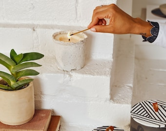 Tia Mowry x Etsy x Chelsea Candle Potted Soy Candle, Natural Organic Lavender Plant Pot Candle