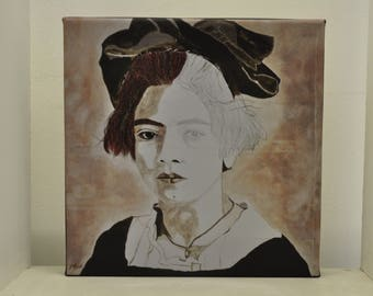 Frida Kahlo Original Artist's Mini Canvas Print Inocencia