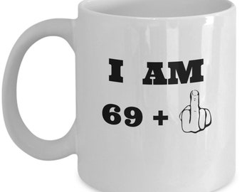 70th Birthday Mug Middle Finger Gifts For Men And Women Funny Present 70 Year Olds 11 Oz White Cup