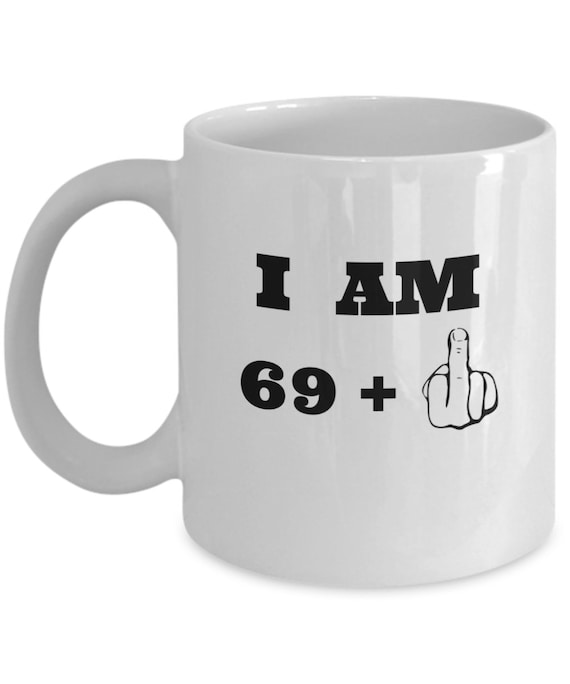 70th Birthday Mug Middle Finger Gifts For Men And