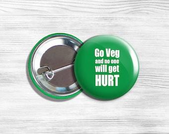 Large Vegan Enamel Metal Lapel Pin Badge//Brooch ethical vegetarian animal rights