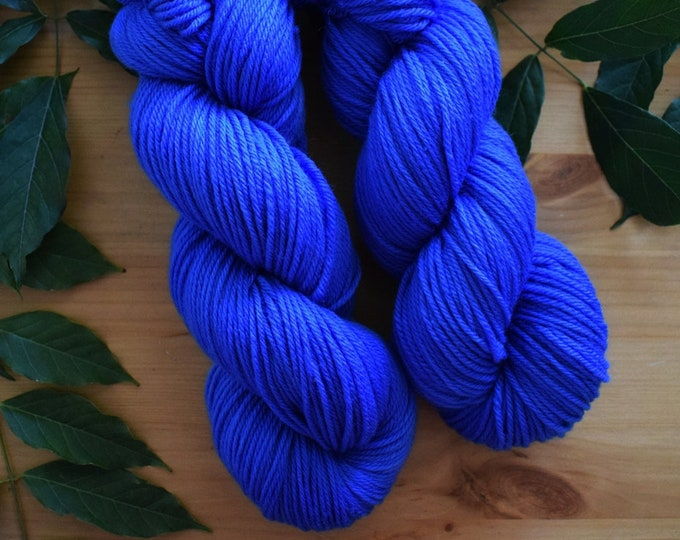 Featured listing image: Azul David - DK Me, Hand dyed, 100% SW Merino