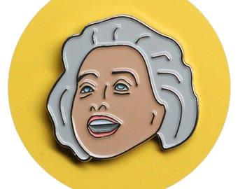 Barbara Cook enamel lapel pin