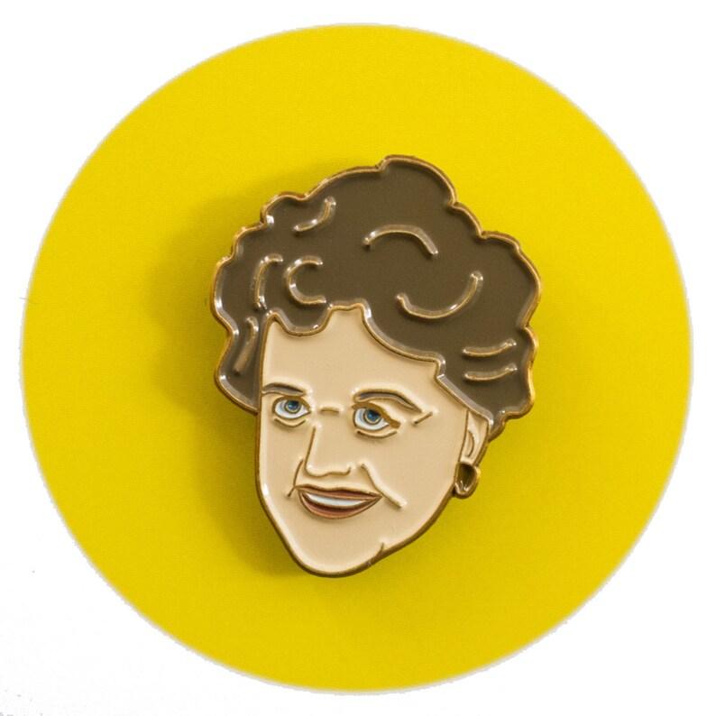 Angela Lansbury enamel lapel pin image 0