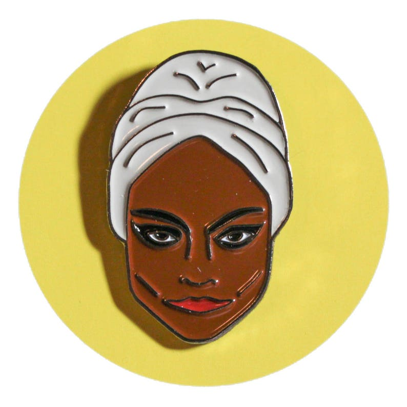 Eartha Kitt enamel lapel pin image 0