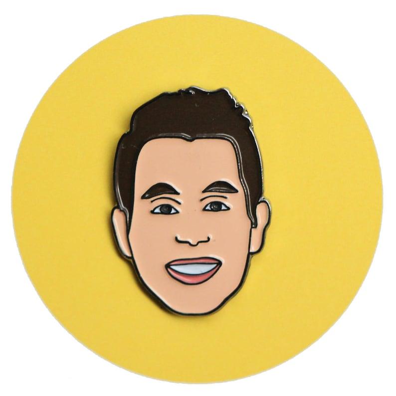 Ben Platt enamel lapel pin of Dear Evan Hansen image 0