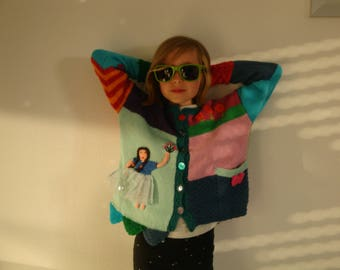 Colorful patchwork jacket for girls