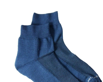 Bamboo Ankle Sponge Socks - BLUE - Sport Socks