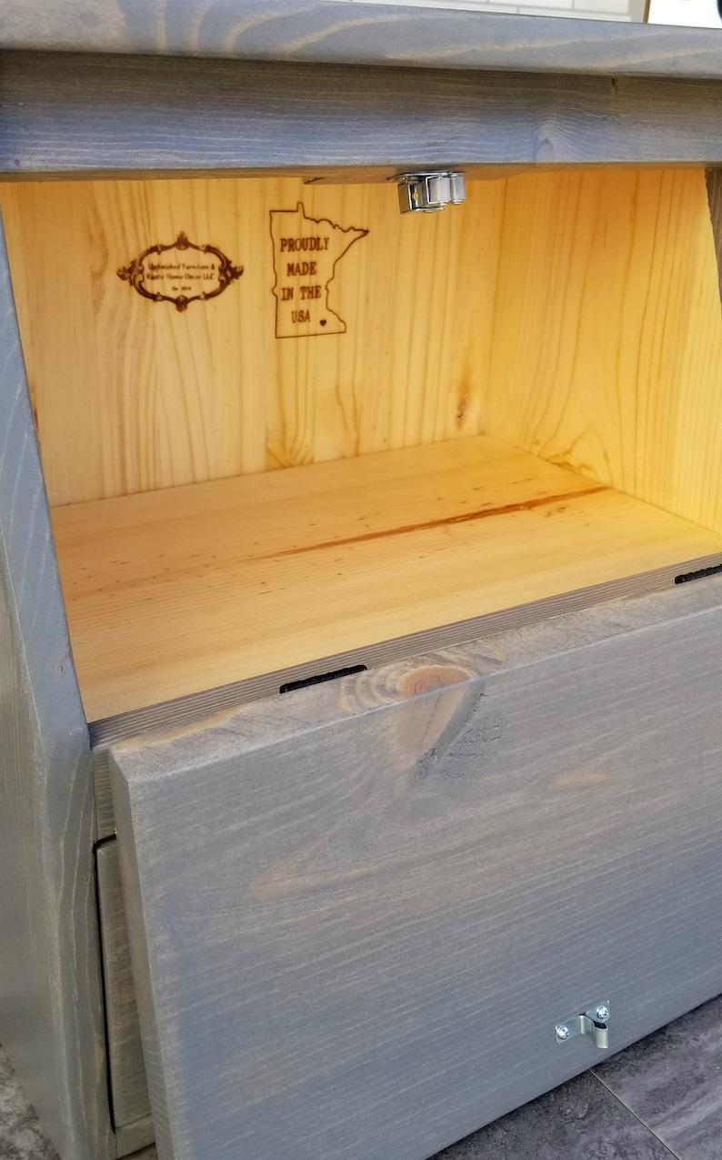 Wood Bread Onion Box  Personalization Available  Wood Bread Box  Kitchen Storage  Modern Farmhouse Kitchen  Countertop Storage