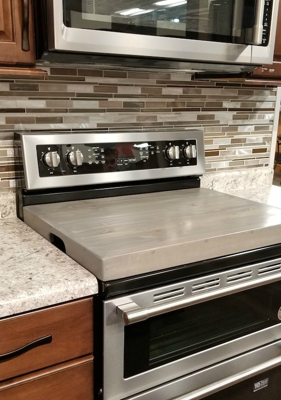 Stove Top Cover / Wooden Stove Cover Personalized / Noodle Board / Raised  Gas Stove Cover / Modern Farmhouse / Custom Wood Stove Tray