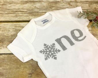 5ef4eec9f One Snowflake Onesie, First Birthday, Winter Onederland, Winter Birthday,  Photo Prop