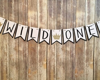 Wild One Banner, Where The Wild Things Are Inspired Banner, One Banner, First Birthday, Photo Prop