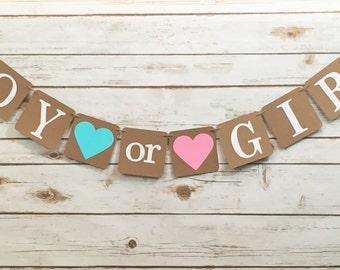 boy or girl banner etsy