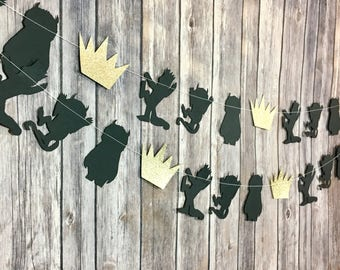 Where the Wild Things Are inspired Garland, Wild One Garland, Birthday Decor, Baby Shower, Photo Prop