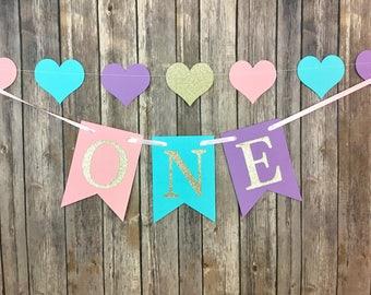One Banner, First Birthday, Glitter One, Photo Prop