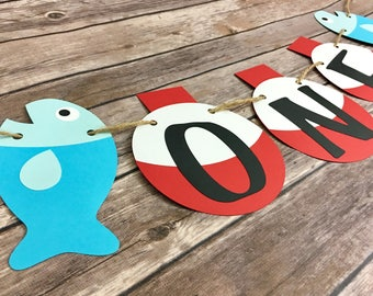 Fishing One Highchair Banner, Fishing Banner, One Banner, First Birthday, Photo Prop
