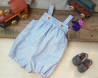 Baby Boy Clothes, Toddler Boy Clothes, First Birthday Boy, Toddler Boy Romper, Baby Boy, Shorts, Linen Romper, Linen Baby Clothes, Summer
