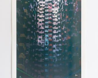 Micro Dwelling (Border) | Screen Print | Silk Screen | Digital Photograph Hand Printed