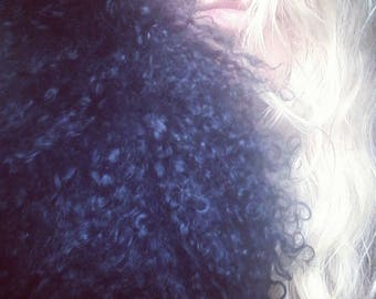 Curly Lamb 4ft long genuine scarf or coat collar